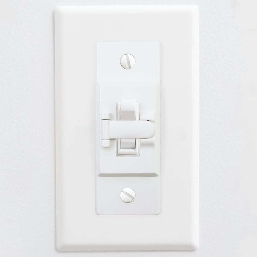 Light Safety Switch Lock 6 Pack White Child Proof Light Switch Guard Protects Your Lights or Circuits from Being Accidentally Turned On or Off Light Switch Guards Wall Switch Guards